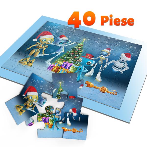 Puzzle A5 – Dacoboti de Sarbatori, 40 piese